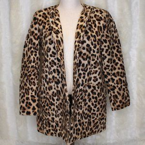 Zara Women's Leopard Print Jacket XL
